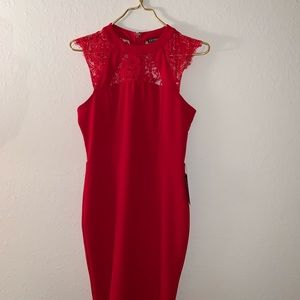 Express Red Mini Dress NWT